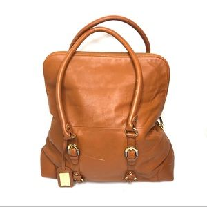 Badgley Mischka Robyn Cognac Leather Hobo Satchel